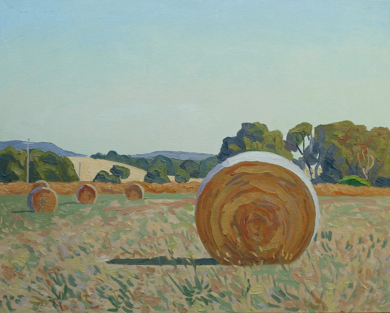 Hay bales 3 2017 by Mark Dober