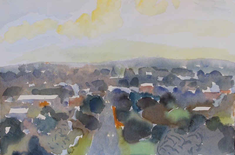 Castlemaine watercolour 1 2016 by Mark Dober