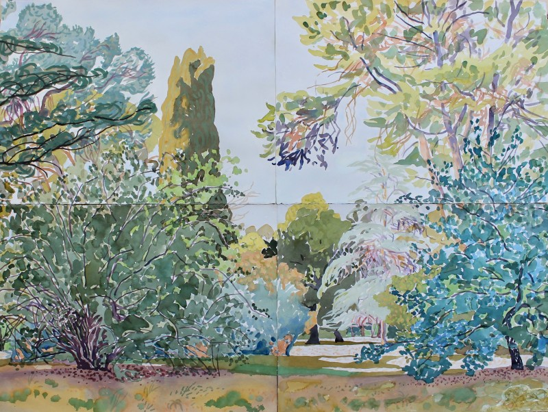 Gardens (with cypress) 2019 by Mark Dober