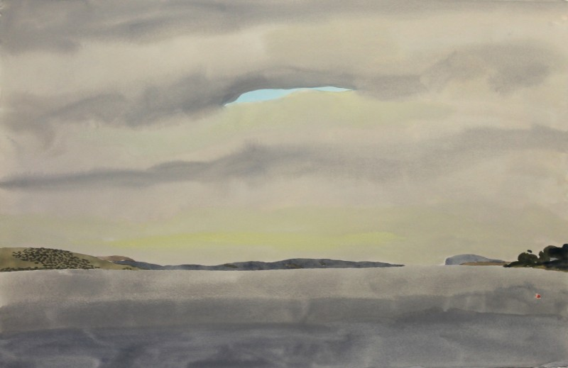 Hobart Harbour (grey day) 2018 by Mark Dober