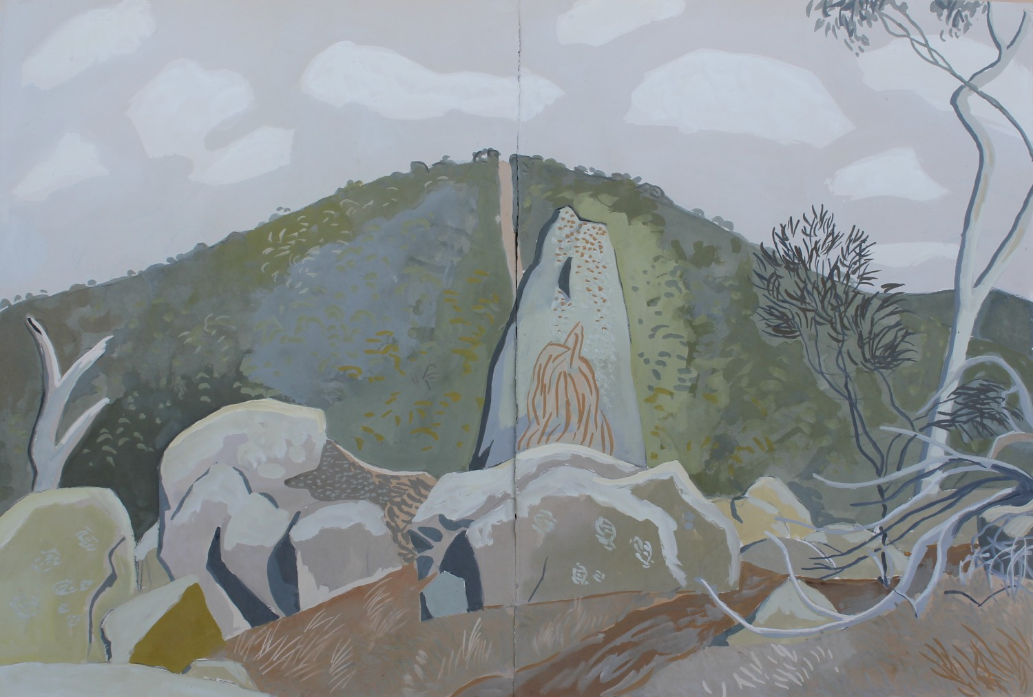 Rocks and Mt Tarrengower 2020 by Mark Dober