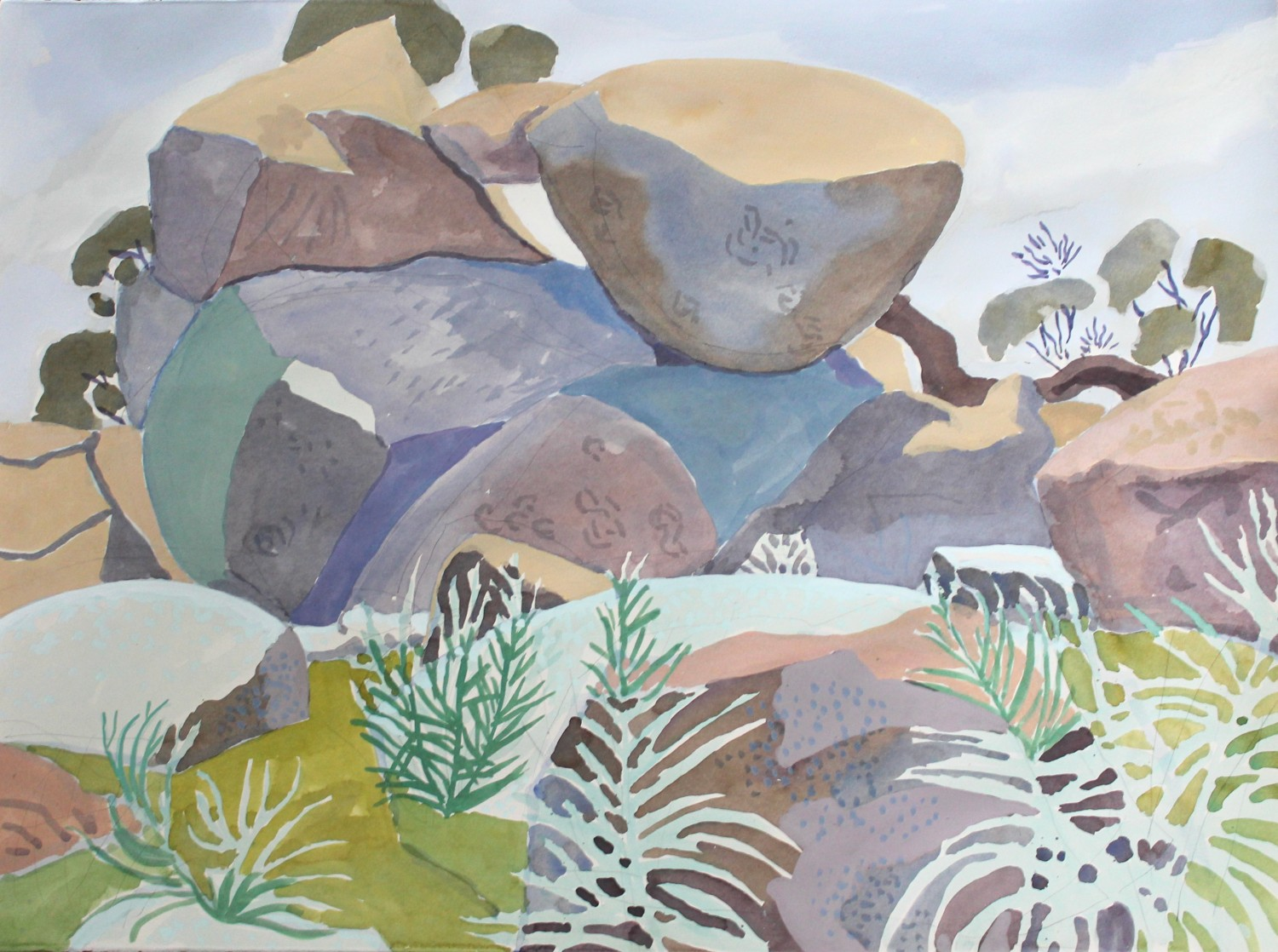 Rocks at Nuggetty Hills, Spring 2020 by Mark Dober