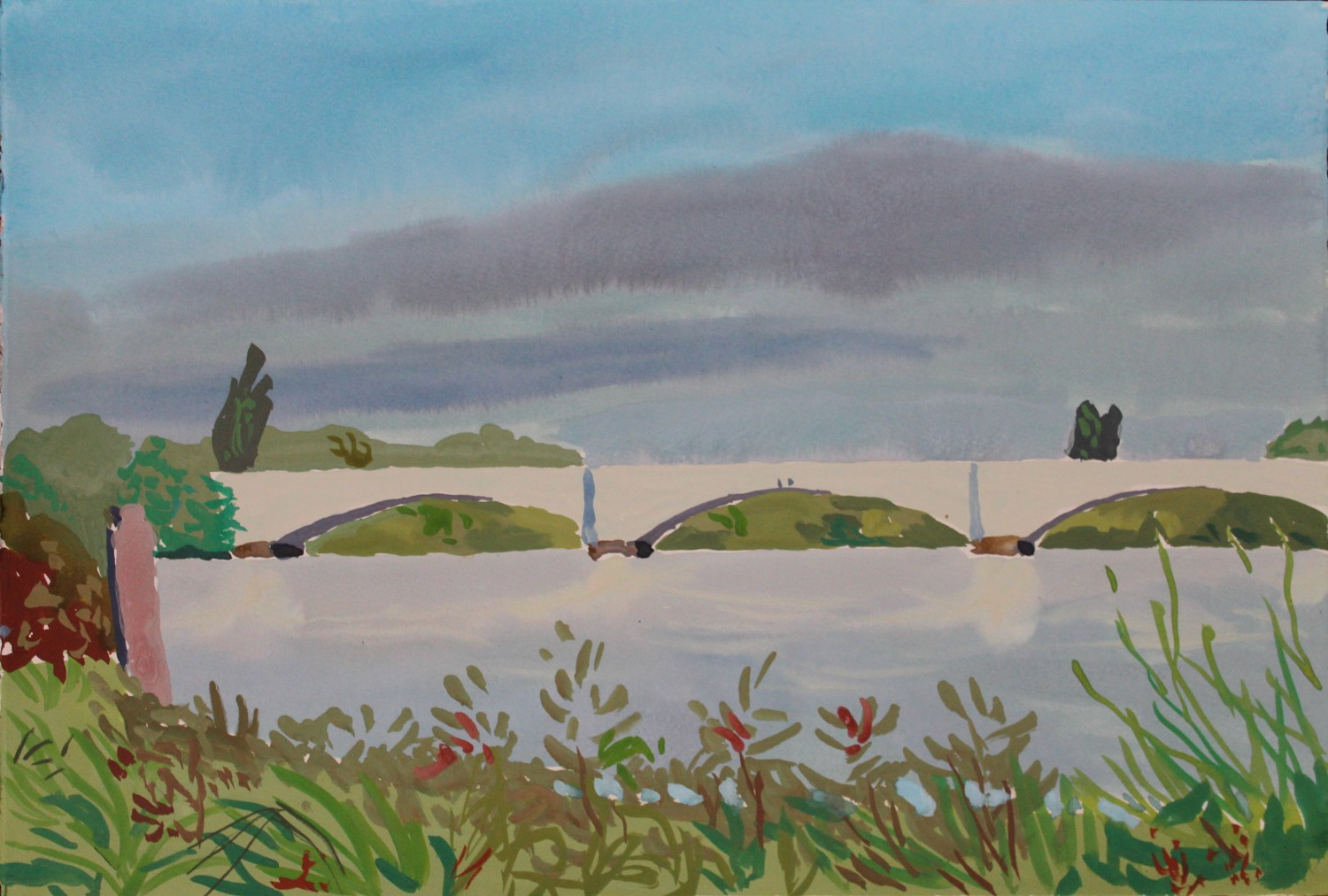 Thames landscape (Chiswick Bridge) 2020 by Mark Dober