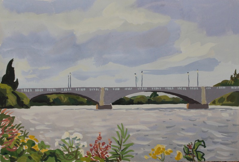Thames landscape (Chiswick Bridge) 2 2019 by Mark Dober